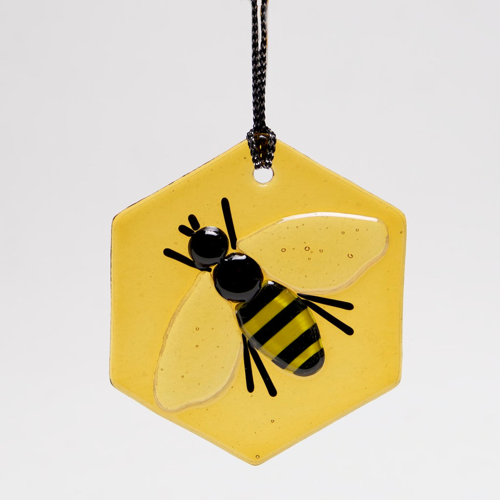 Honey Bee Ornament, Sun Catcher by Charlotte Behrens - © Blue Pomegranate Gallery