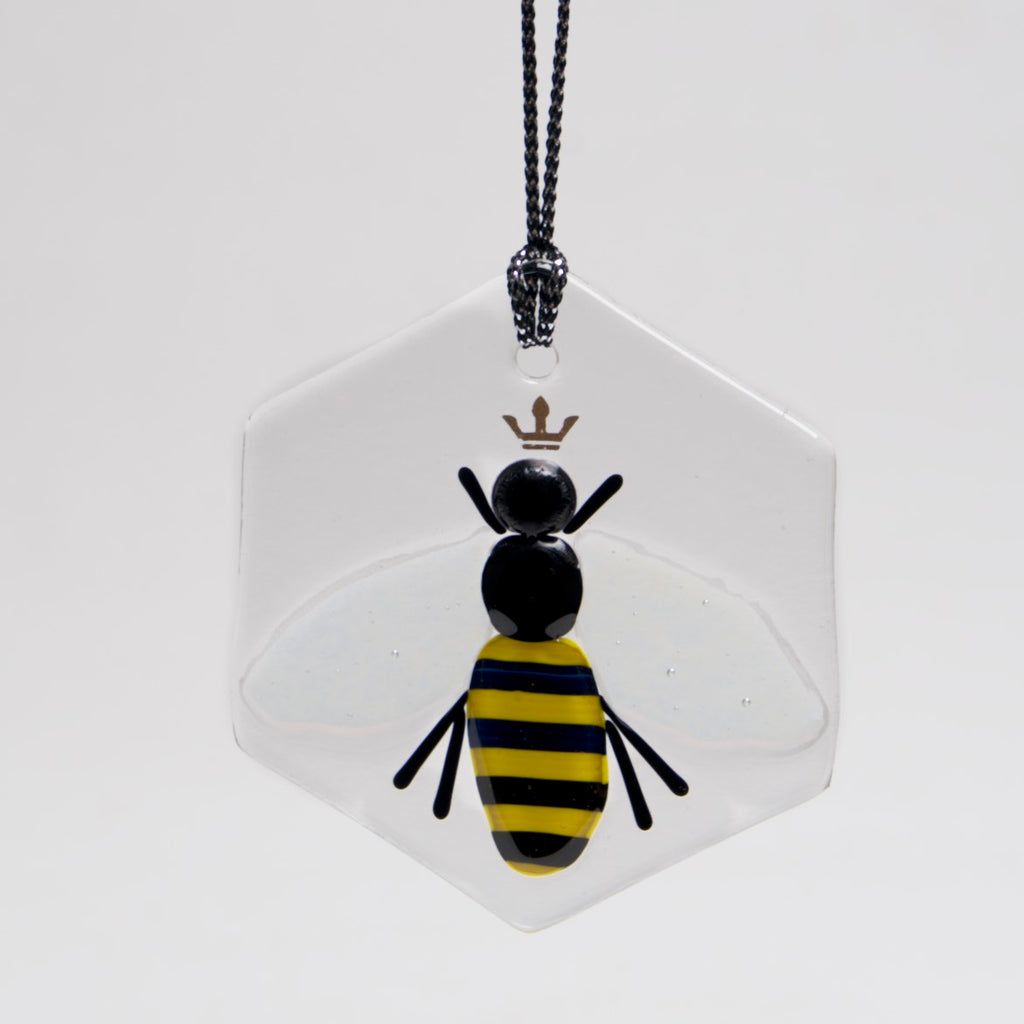 Queen Bee Ornament, Sun Catcher by Charlotte Behrens - © Blue Pomegranate Gallery