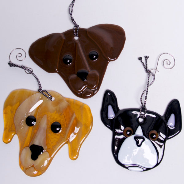 Dog Ornament, Sun Catcher by Charlotte Behrens - © Blue Pomegranate Gallery