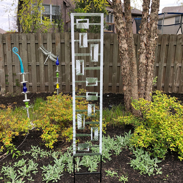 Rectangle Reflection Front Trellis by Sondra Gerber - © Blue Pomegranate Gallery
