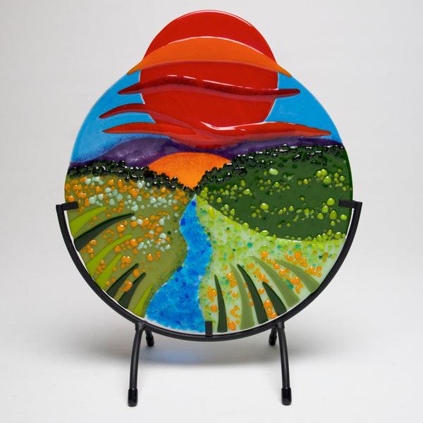 "Sundowner Landscape Circle 10"" by Anne Nye - © Blue Pomegranate Gallery"