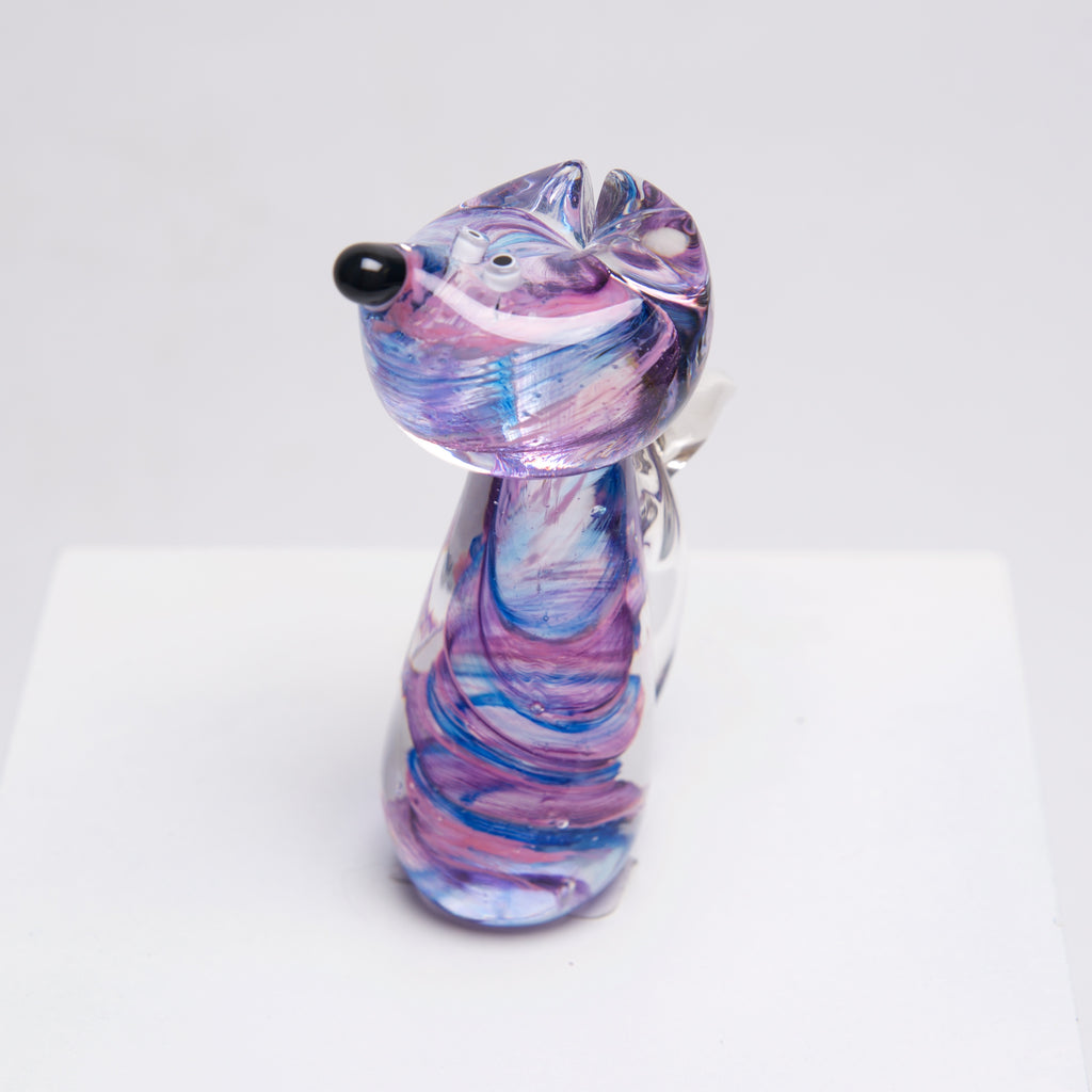 Blown Glass Mini Dog by Catherine Labonte - © Blue Pomegranate Gallery