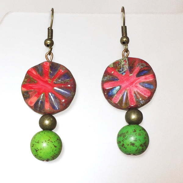 Xian Earrings by Stephanie Heller Durr - © Blue Pomegranate Gallery