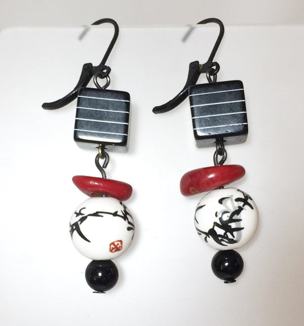 Sheila Earrings by Stephanie Heller Durr - © Blue Pomegranate Gallery