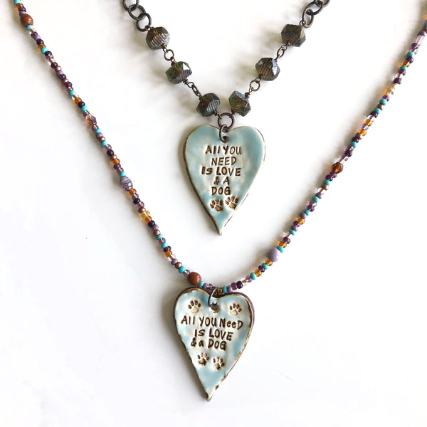 Love & Dog Pendants by Kristi Harrison - © Blue Pomegranate Gallery