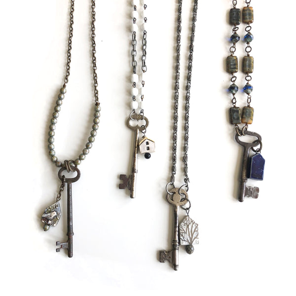 House Keys Necklaces by Kristi Harrison - © Blue Pomegranate Gallery