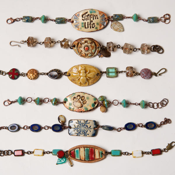 Ceramic object Bracelets by Kristi Harrison - © Blue Pomegranate Gallery