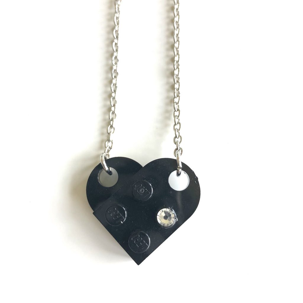 Lego Heart Necklaces by Kristi Harrison - © Blue Pomegranate Gallery
