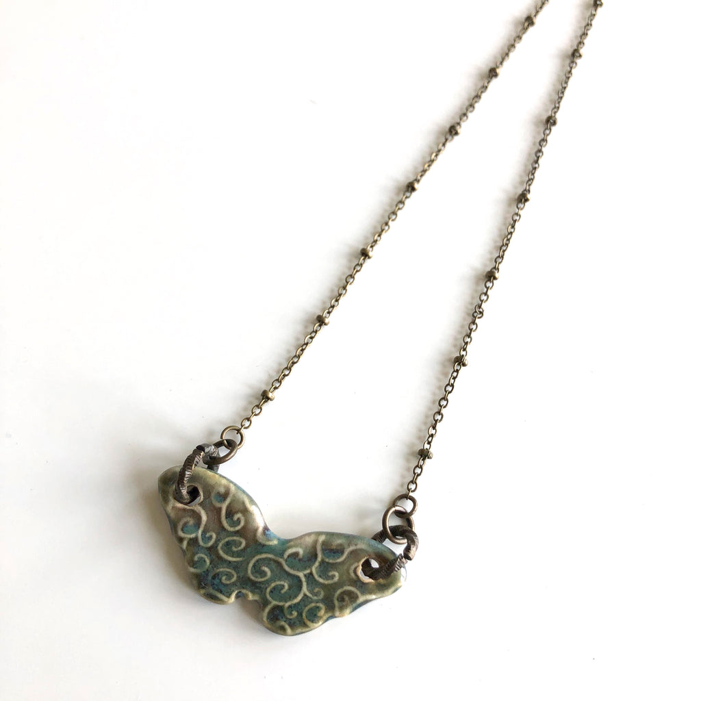 Ceramic Butterfly Necklaces by Kristi Harrison - © Blue Pomegranate Gallery