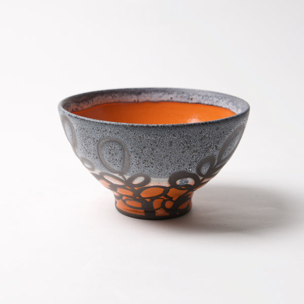 Small Blue/Orange Bowl by Liz Kinder - © Blue Pomegranate Gallery