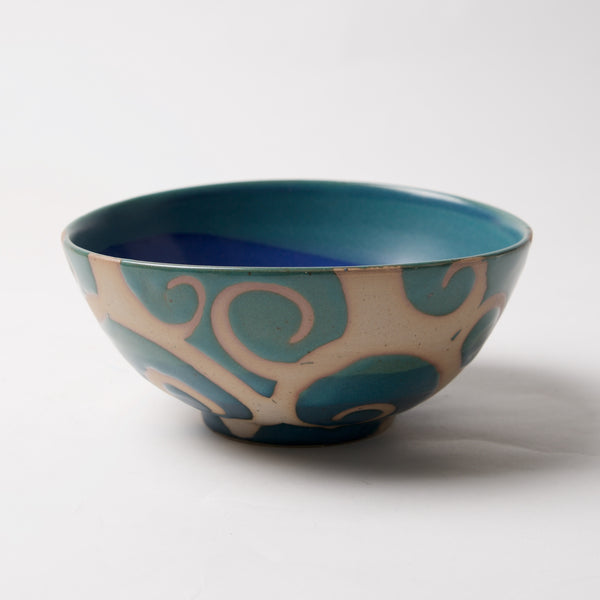 Blue/Green Bowl by Liz Kinder - © Blue Pomegranate Gallery