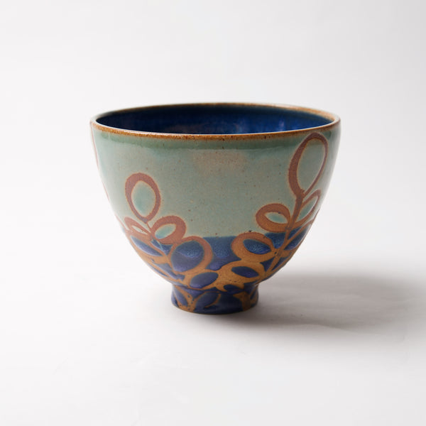 Small 2 Tone Blue Bowl by Liz Kinder - © Blue Pomegranate Gallery