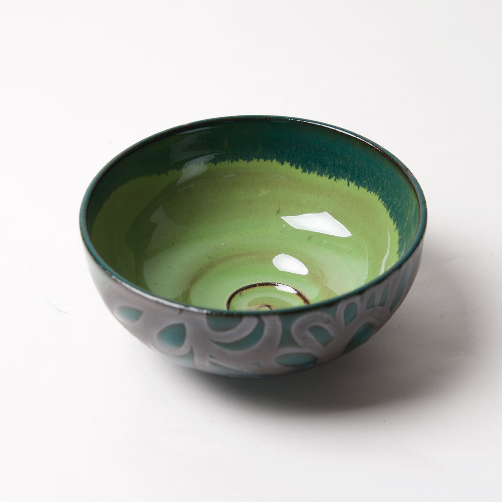 Blue Green Bowl by Liz Kinder - © Blue Pomegranate Gallery