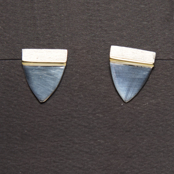 MM-E-103 Earring, Sterling & Brass by Margie Magnuson - © Blue Pomegranate Gallery