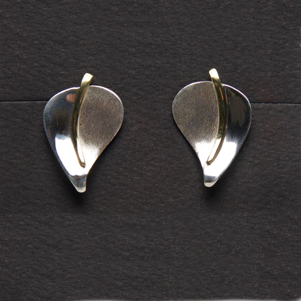 MM-Eb-2 Earring, Sterling & Brass by Margie Magnuson - © Blue Pomegranate Gallery