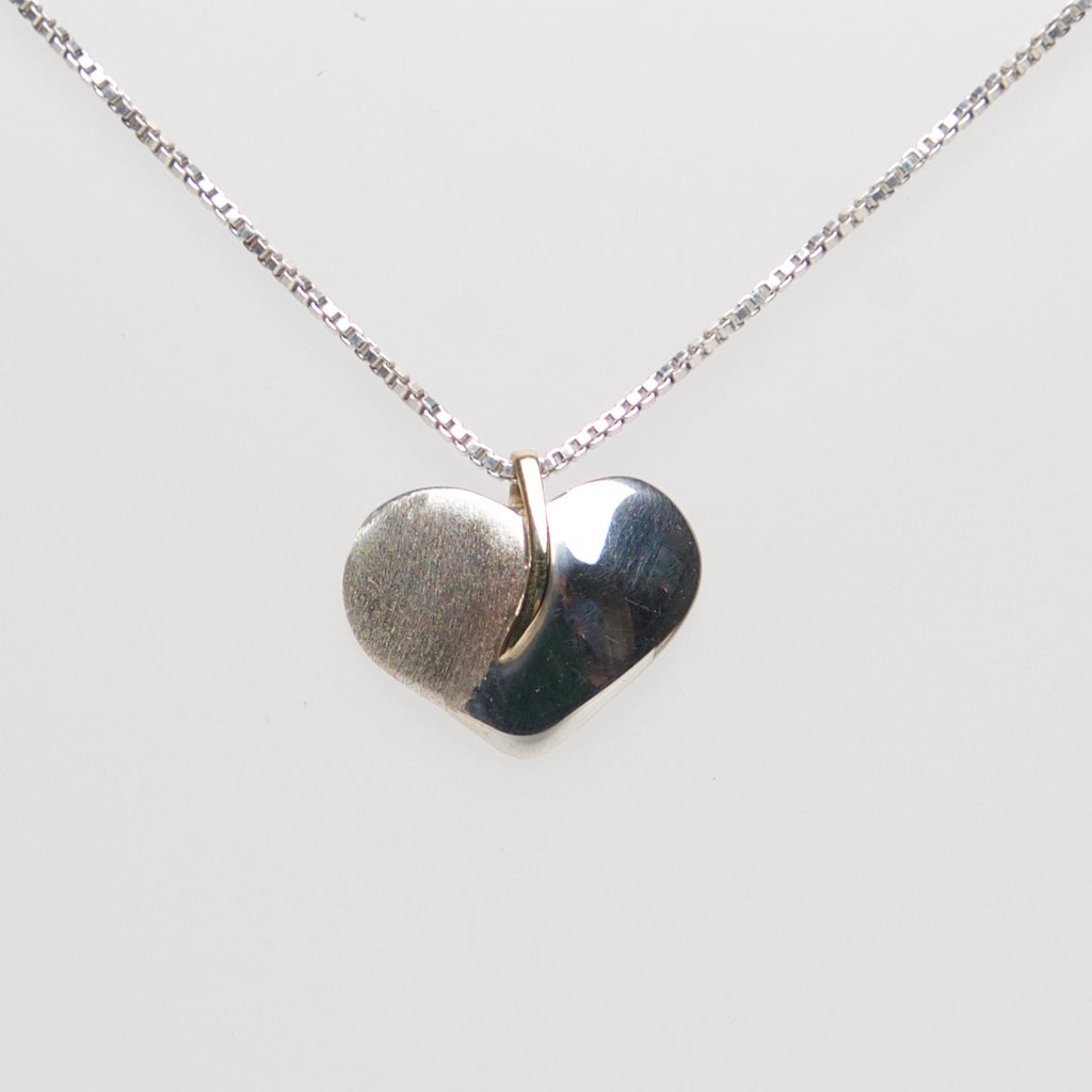 MM-P-104 Pendant, Sterling w/ 14Kt Heart by Margie Magnuson - © Blue Pomegranate Gallery