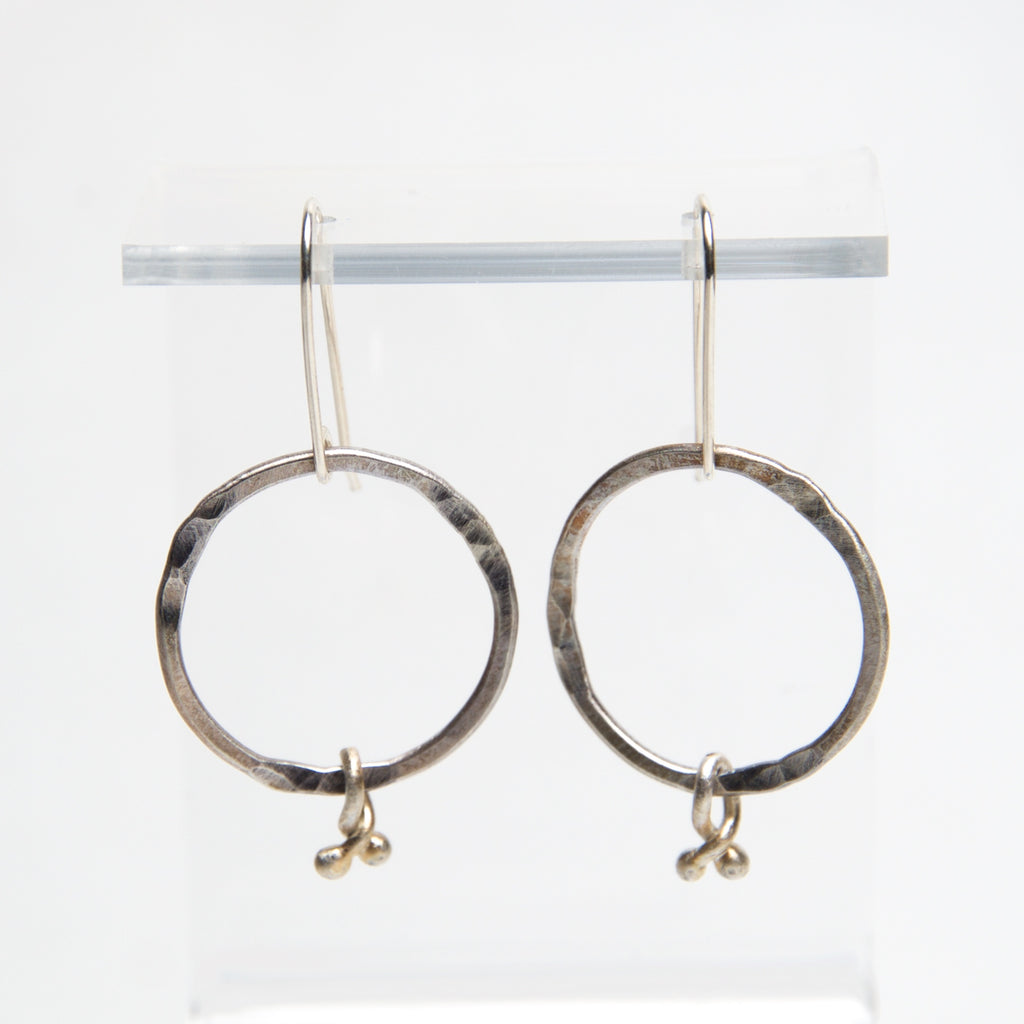 HMQ - Cherries- St. Silver Earrings by McQueen - © Blue Pomegranate Gallery