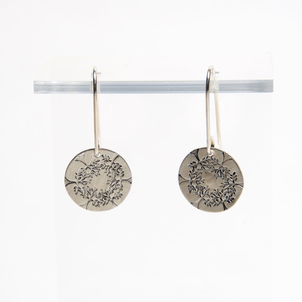 HMQ - Looking Up- St. Silver Earrings by McQueen - © Blue Pomegranate Gallery