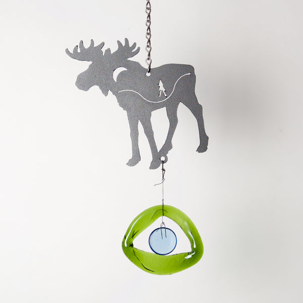 Mini Moose Wind Chime by Chalfant - © Blue Pomegranate Gallery