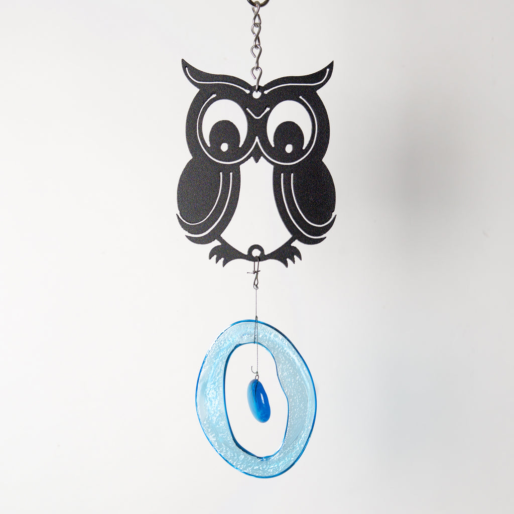 Mini Owl Wind Chime by Chalfant - © Blue Pomegranate Gallery