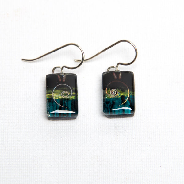 Fern Drop Earrings by Edo Mor - © Blue Pomegranate Gallery