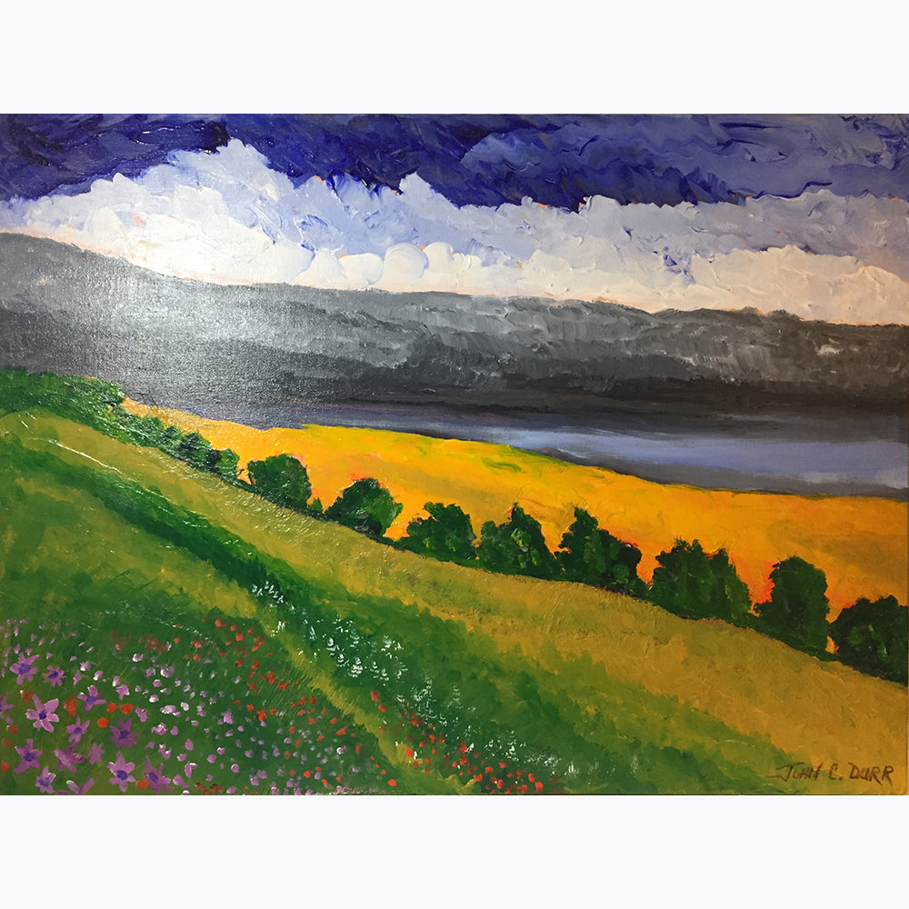 "Mountain Meadow by John C Durr 24""x30"" - © Blue Pomegranate Gallery"