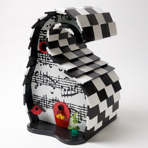 Music Checkered Bird House by Coulter & Determan - © Blue Pomegranate Gallery