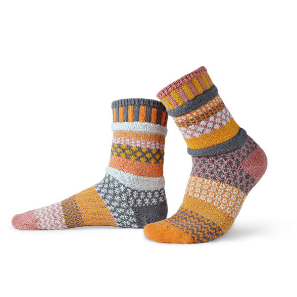 Buckwheat Adult Crew Socks made of recycled cotton by Marianne Makerlin - © Blue Pomegranate Gallery