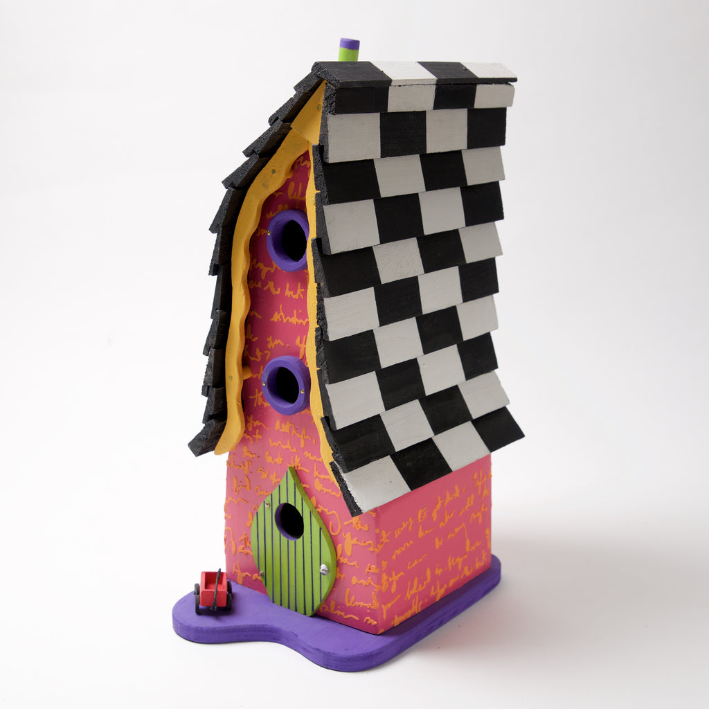 Pink Wagon Bird House by Coulter & Determan - © Blue Pomegranate Gallery