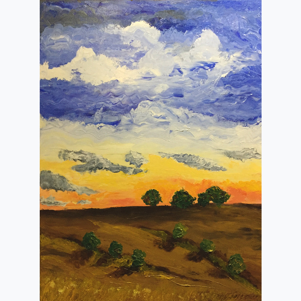 "Prairie Sunset by John C Durr 36""x48"" - © Blue Pomegranate Gallery"