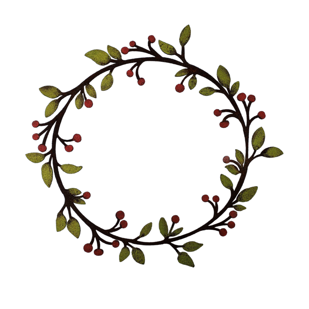 Leaf & Berry Sm. Wreath by Jim & Madeleine Crowdus - © Blue Pomegranate Gallery