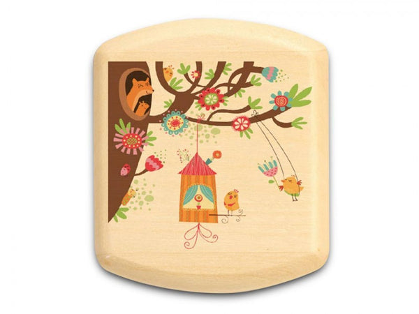 Bird House and Tree Aspen Art Box 5/8 x 1-3/4 x 2 - © Blue Pomegranate Gallery
