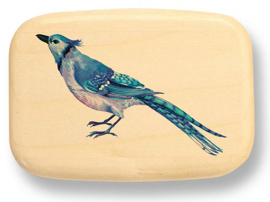 Blue Jay Aspen Art Box 3⁄4 x 2 x 3 - © Blue Pomegranate Gallery