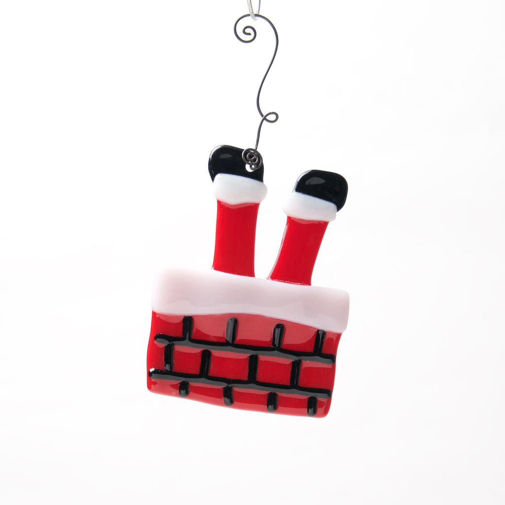 Santa's Stuck Ornament by Heidi Riha - © Blue Pomegranate Gallery
