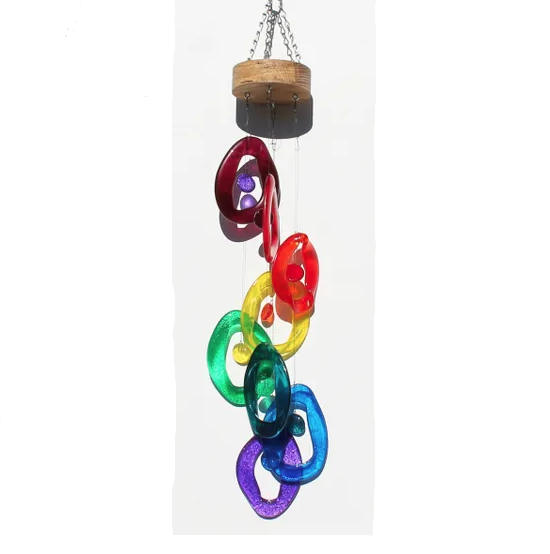 Rainbow Spiral Wind Chime by Chalfant - © Blue Pomegranate Gallery