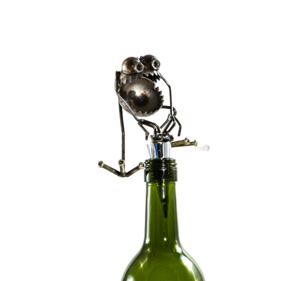 Chugger the Bugger Wine Stopper by Fred Conlon - © Blue Pomegranate Gallery