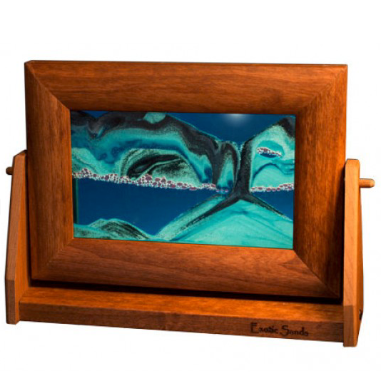 Alder Wood Sand Panel, SM, Ocean Blue - © Blue Pomegranate Gallery