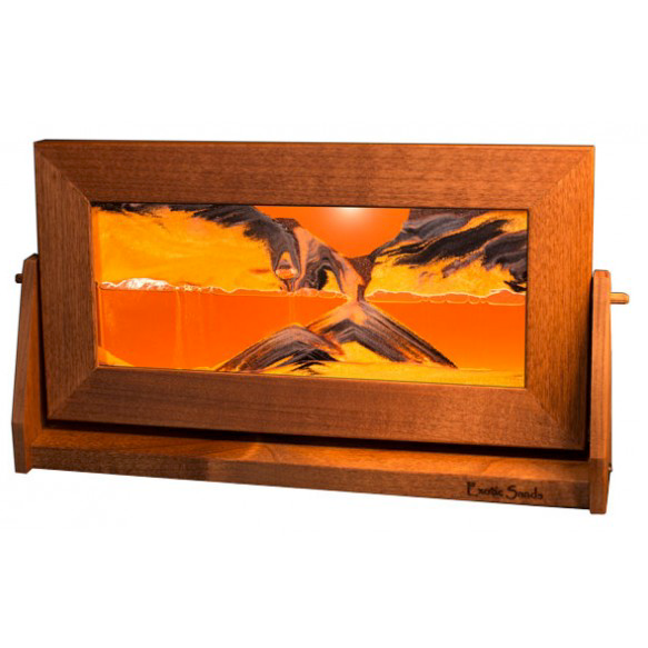 Alder Wood Sand Panel, Med, Sunset Orange - © Blue Pomegranate Gallery