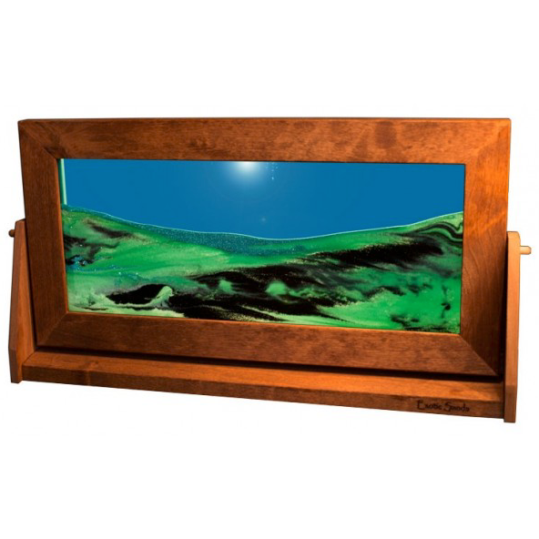 Alder Wood Sand Panel, XL, Summer Turquoise - © Blue Pomegranate Gallery
