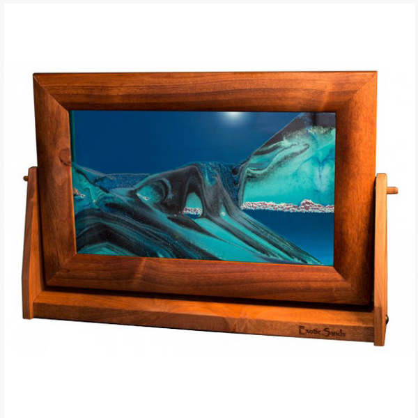 Alder Wood Sand Panel, LG, Ocean Blue - © Blue Pomegranate Gallery