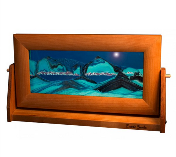 Cherry Wood Sand Panel, Med, Ocean Blue - © Blue Pomegranate Gallery
