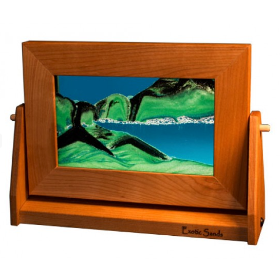 Cherry Wood Sand Panel, Sm, Summer Turquoise - © Blue Pomegranate Gallery