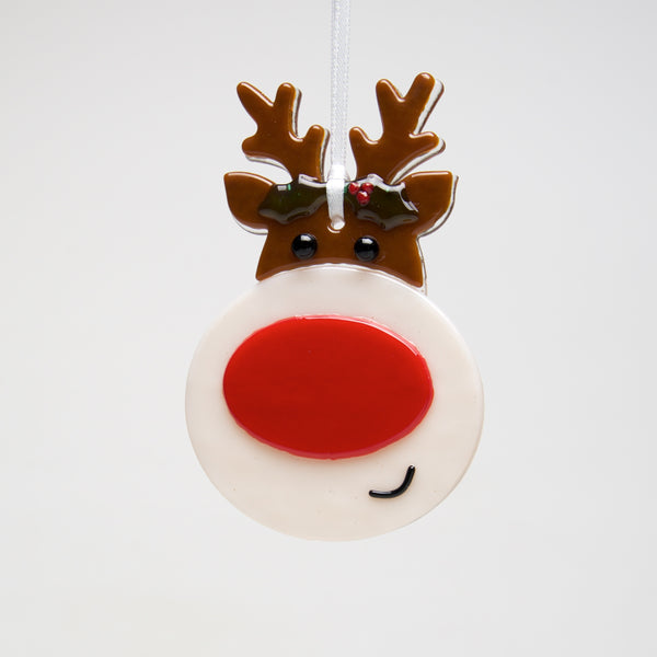 Glass Reindeer ornament by Sondra Gerber - © Blue Pomegranate Gallery