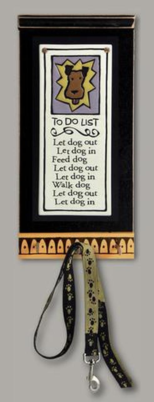 Key/Leash Holder 'To Do List ' by Michael Macone - © Blue Pomegranate Gallery