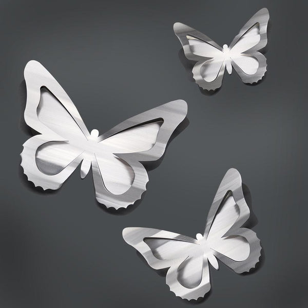 Wall Butterflies set of 3 by Sondra Gerber - © Blue Pomegranate Gallery