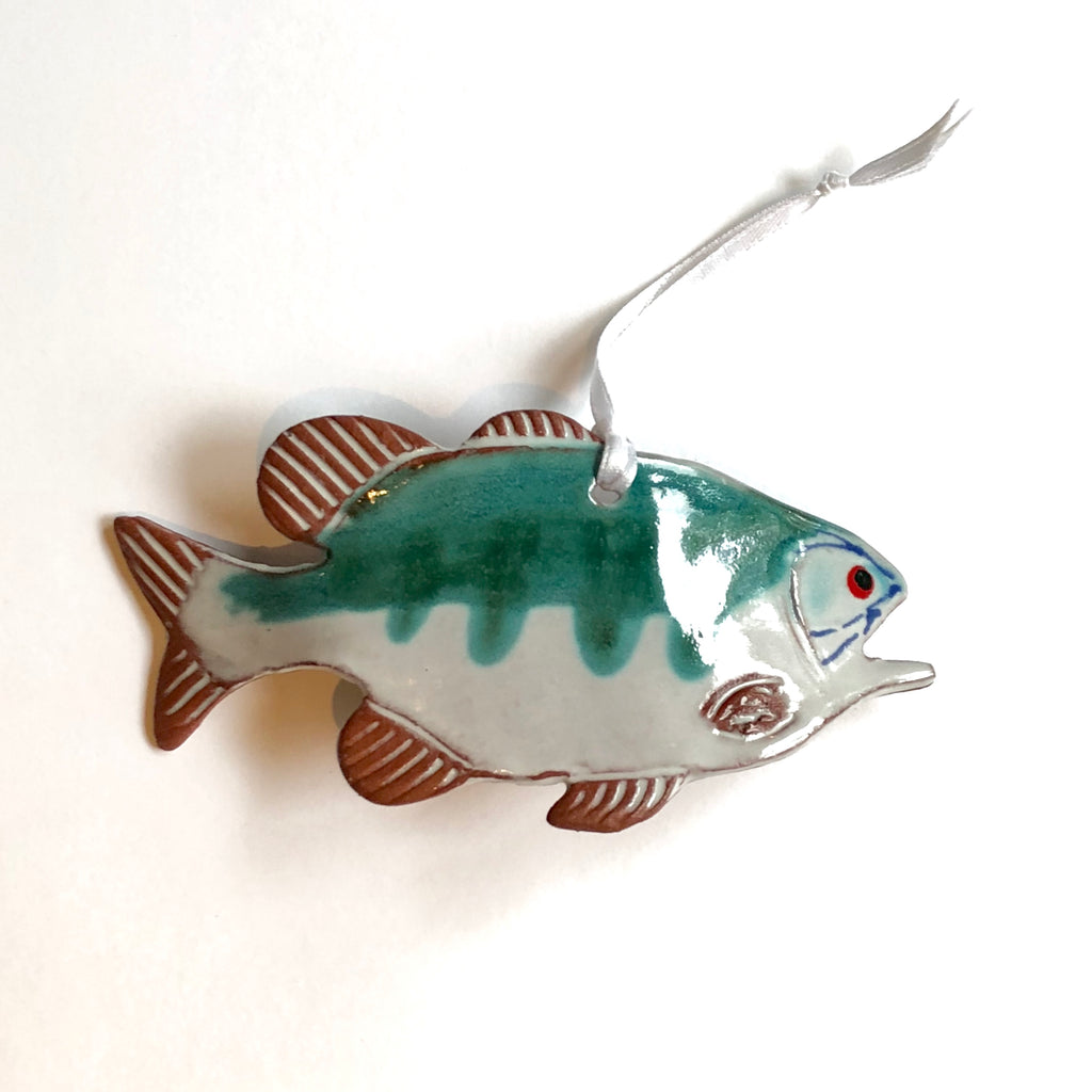Lake Fish Ornament by Molly Saunders - © Blue Pomegranate Gallery
