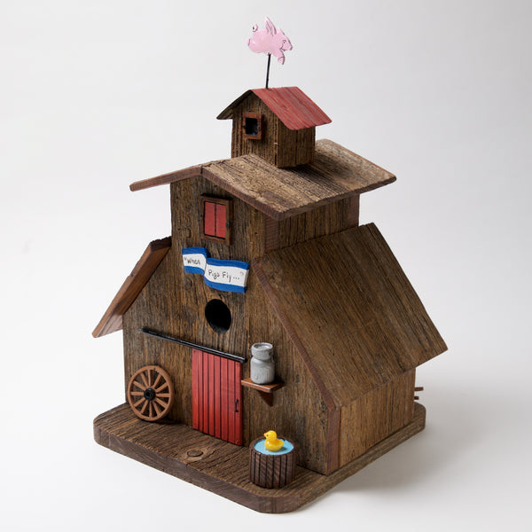 When Pigs Fly Bird House by Coulter & Determan - © Blue Pomegranate Gallery