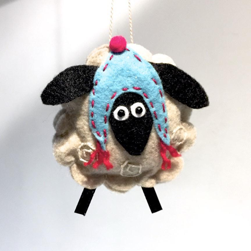 Felted Sheep Ornament by Lois Froistad
