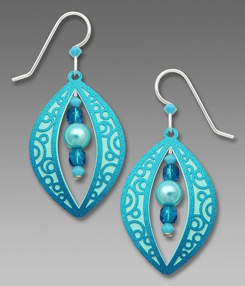 Aqua Turquiose Morrocan Filigree Earrings by Barbara MacCambridge