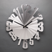 Warped - Aluminum Wall Clock  with Pendulum by Sondra Gerber - © Blue Pomegranate Gallery